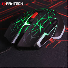 FANTECH 1.8m 6D 4800DPI Adjustable USB Wired Gaming Mouse Macro RGB Mice Black