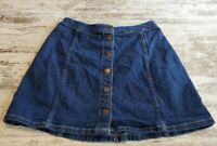Juniors Hollister Blue Denim Skirt Size 1 Above The Knee