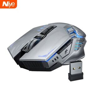 Ergonomic 7 Button 1600 DPI Rechargeable Wireless Gaming Mouse With Back Lights