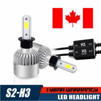 2X Auto LED White H3 LED Fog Headlight Kit Light Lamp Bulb Car Beam 16000LM CA