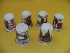 Fingerhüte 6 Stück London Doppeldecker Tower Bridge usw.