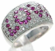 """Esposito Diamonique Solid 925 Sterling Silver """"Love"""" Ring Sz-7  '"""