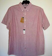 Daniel Cremieux Mens S/S Shirt BIG Man 2XB Berry Red NWT