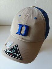Duke Blue Devils Embroidered Flex Fit Blue Beige Cap NWT NCAA ACC Krzyzewski *