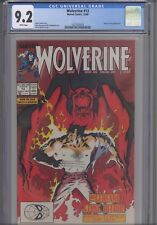 Wolverine #13 CGC 9.2 1989 Marvel Jessica Drew Appearance: New Frame