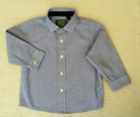 NEXT Baby Boys Blue White Striped Long Sleeved Cotton Shirt Top 12-18 months