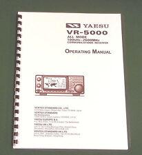 Yaesu VR-5000 Operating Manual -  Premium Card Stock Covers & 28 LB Paper!