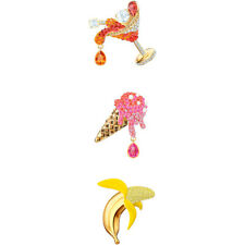 SWAROVSKI NO REGRETS BROOCH SET, MULTI-COLOURED, GOLD PLATING 5468254