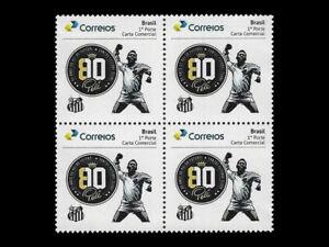 Football Pelé celebration jump with punch in the air - Brazil 2020 - Santos team