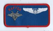 411th FLT TEST SQUADRON F-22 NR AIRCREW NAMETAG patch