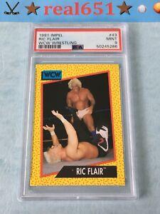 1991 Impel #43 RIC FLAIR | PSA 9 Mint | WCW Wrestling | Nature Boy | STING
