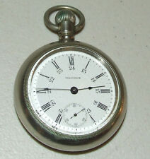 Waltham Open Face Antique Pocket Watches with 24-Hour Dial