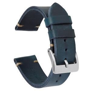 VintageTime Watch Straps - Vintage New Style Calf Leather Replacement Watch Band