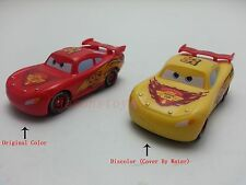 Mattel Disney Pixar Cars Color Changers Lightning McQueen Red- Yellow New