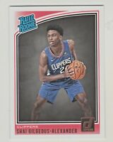 2018-19 Donruss #162 SHAI GILGEOUS-ALEXANDER RC Rookie Los Angeles Clippers