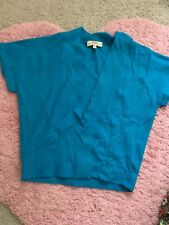 Ladies Blue Soft Sleevless Short Cardigan Papaya Size 10