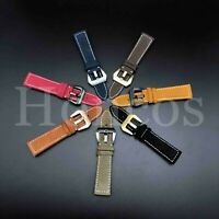 18 20 22 24 MM Watch Leather Strap Band Clasp Replacement Fits Breitling Vintage
