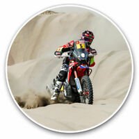 2 x Vinyl Stickers 7.5cm - Dakar Rally Motorbike Off Roading Cool Gift #12515