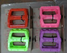 """Odyssey Twisted Pedals 1/2""""  one piece crank neon yellow, pink red purple"""