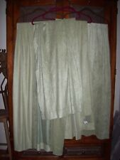 "Springs Green Faux Suede Drapes Curtains 4 Panels 40"" x 84"" Each"