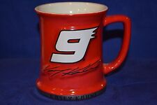 "BEAUTIFUL 4 1/4"" TALL CERAMIC NASCAR KASEY KAHNE #9 BUDWEISER COFFEE MUG CUP"