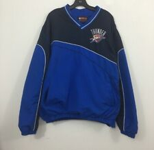 Men's NBA Oklahoma Okc Thunder Basketball Pullover Windbreaker Jacket Size XXL
