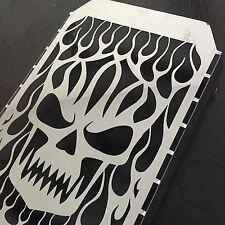 Chrome Skull Flame Radiator Grille Cover Stainless For Kawasaki Vulcan VN 1500