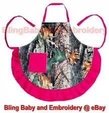 1 Camo Camouflage Apron Pink Black Brown One Size Adult Full Length Smock