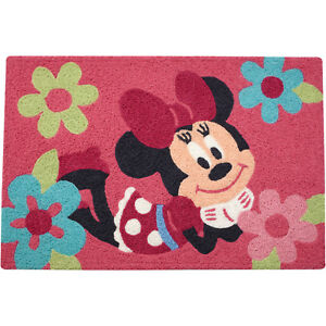 """Disney Minnie Mouse Rug 20"""" x 30""""  Garden of Flowers - Discontinued Item"""
