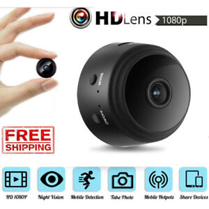 Mini Camera Wireless Wifi IP Home Security 1080P DVR Night Vision Remote NEW