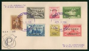 Mayfairstamps Philippines FDC 1945 Victory Commonwealth Combo First Day Cover ww