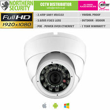 SONY IMX 2.4MP 3.6mm 1080P ONVIF P2P IR POE EYEBALL NETWORK IP SECURITY CAMERA