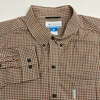 Columbia Button Up Shirt Mens XXL Multicolor Plaid Long Sleeve Casual