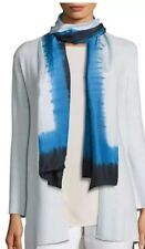 Eileen Fisher Catalina Tie Dye Silk Scarf SHIBORI Frames