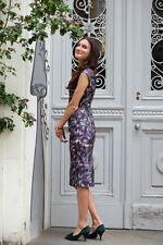 Damen Kleid dress schwarz grau lila 60er Gr. 34 36 True VINTAGE 60's Damenmode