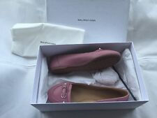 "NIB Balenciaga ""Veau Papier"" Rose Anglais Leather Studded Ballerinas IT39 /(US8)"