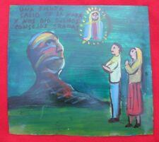 Mexican Folk Art Miguel Hernandez Head Of God Appears In Mountain Ex Voto