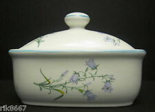 Harebell English Fine Bone China Butter Dish By Milton China