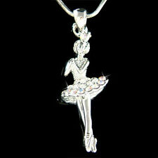 w Swarovski Crystal BALLERINA Ballet Crown Necklace Girls 4 The Nutcracker Lover