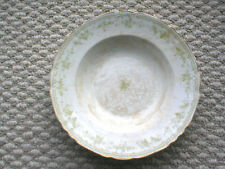 FURNIVALS 19th Century China,WALDEN-Green: Soup ? BOWL