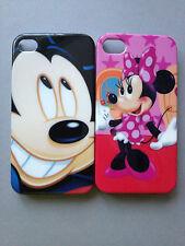 Brillante de plástico volver estuche/cubierta para APPLE iPHONE 4 4S-Mickey & Minnie Mouse
