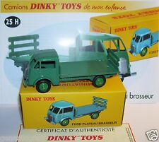 REEDITION DINKY TOYS ATLAS FORD PLATEAU BRASSEUR REF 25 H VERT IN BOX