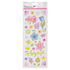 ANITAS PRETTY COLOURFUL FLOWERS CARDSTOCK STICKERS FOR CARDS AND CRAFTS