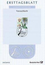 BRD 2009: Varusschlacht! Ersttagsblatt Nr 2738 mit Bonner Sonderstempel! 1712