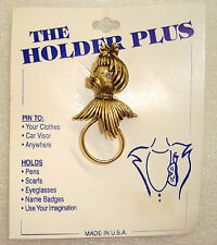 """POODLE PIN Spaghetti Dog Head Holder for Glasses, Scarf, Pen, Badge, NOS 2.5"""""""