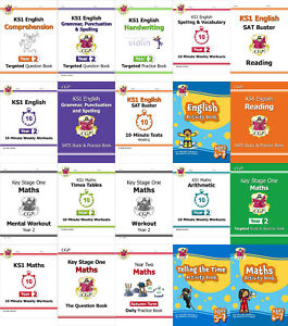 CGP KEY STAGE 1 KS1 MATHS SCIENCE ENGLISH SCHOOL BOOKS YEAR 2 FREE DELIVERY