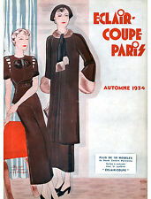 1934 Fall Eclair Coupe Paris Pattern Book Reprint