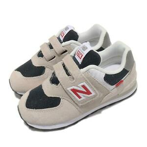New Balance 574 W Wide Ivory Beige Strap Toddler Infant Casual Shoes IV574SJ2 W