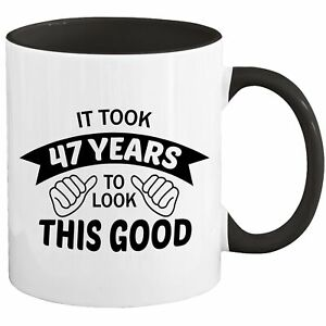 47th Birthday Mug Coffee Cup 1974 Funny Gift For Women Men Her Him I-67H