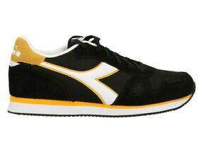Scarpe uomo Diadora Simple Run C2584 nero giallo  sportivo calzature passeggio